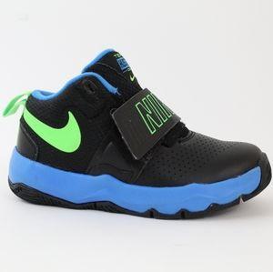Nike Team Hustle D8 Toddler Boys Black Blue 10.5
